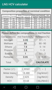 High calorie value calculator for LNG screenshot 1