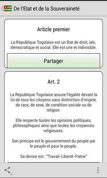 Constitution Togolaise poster