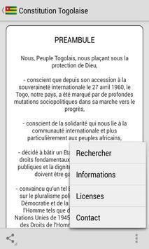 Constitution Togolaise screenshot 2