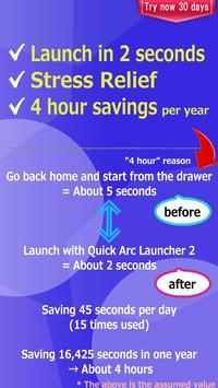 Quick Arc Launcher 2 screenshot 2