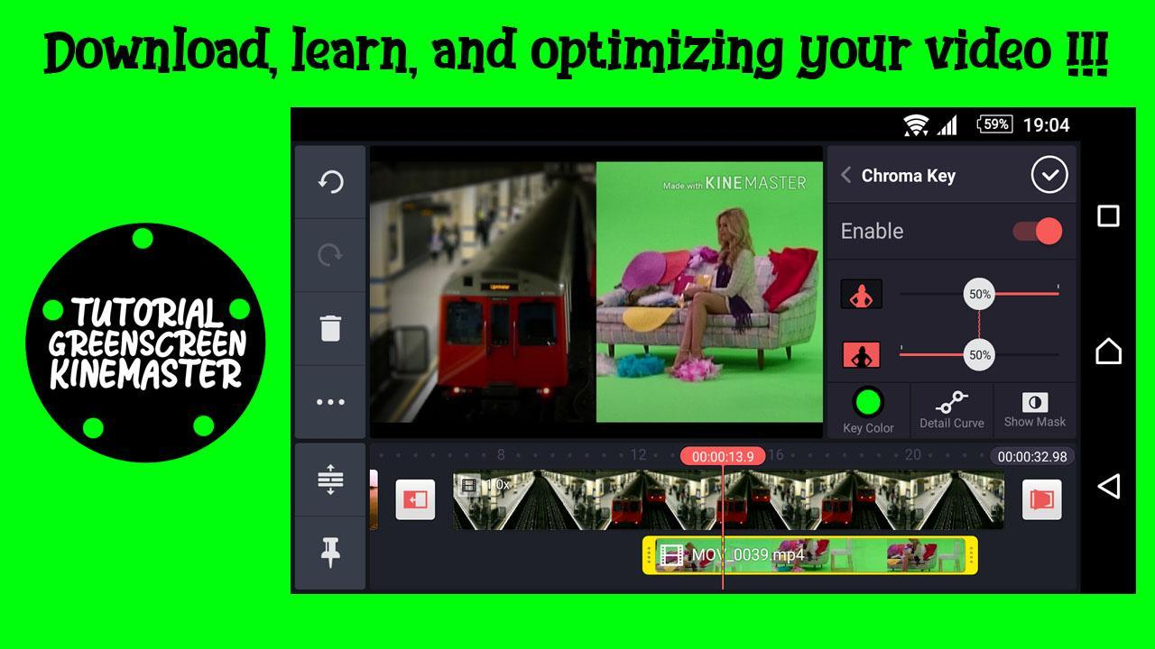 Tutorial Green Screen In Kinemaster Pro for Android - APK