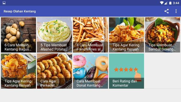 Resep Olahan Kentang screenshot 10
