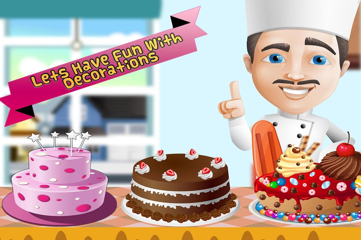 Birthday Cake Maker Bakery Chef Kids Cooking Games Screenshot 3