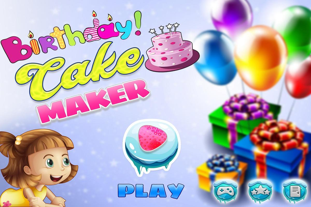 Birthday Cake Maker Bakery Chef Kids Cooking Games Poster