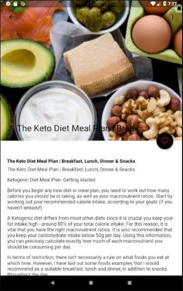 Keto Diet Food List Meal Plan For Android Apk Download