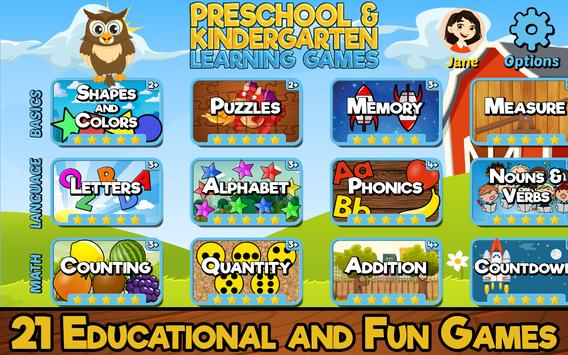 Preschool and Kindergarten Learning Games screenshot 5