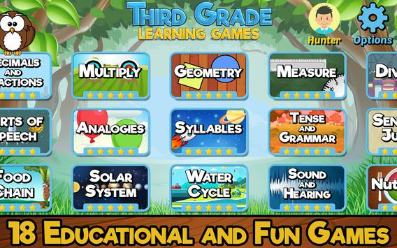 Third Grade Learning Games poster