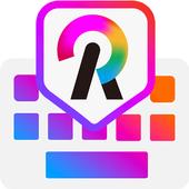 ikon Rainbowkey Keyboard - Emoji Lucu,Stiker,Tema,Gif