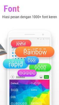 Rainbowkey Keyboard - Emoji Lucu,Stiker,Tema,Gif screenshot 3