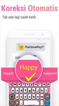 Rainbowkey Keyboard - Emoji Lucu,Stiker,Tema,Gif screenshot 5