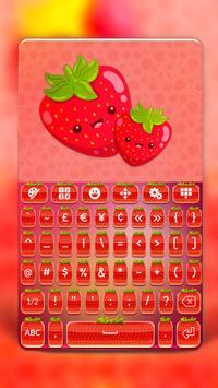 Cute Strawberry Keyboard screenshot 1