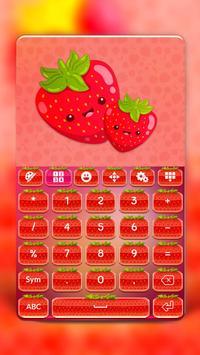 Cute Strawberry Keyboard screenshot 2