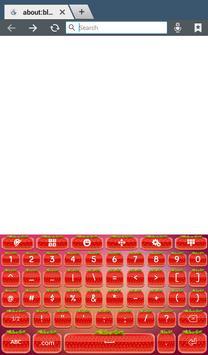 Cute Strawberry Keyboard screenshot 7