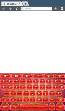 Cute Strawberry Keyboard screenshot 5