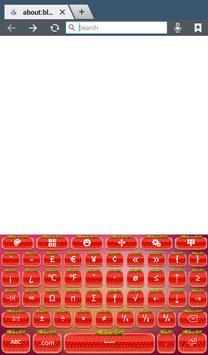 Cute Strawberry Keyboard screenshot 8