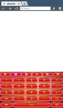 Cute Strawberry Keyboard screenshot 9