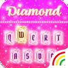 Pink Diamond Keyboard Theme - Emoji&Gif आइकन