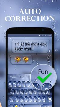 Water Drops Theme - Keyboard Theme for Android screenshot 4
