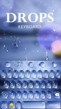 Water Drops Theme - Keyboard Theme for Android poster