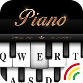Black&White Piano Keyboard Theme icon