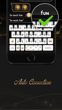 Black&White Piano Keyboard Theme screenshot 4