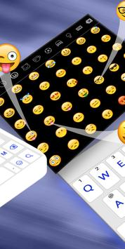 Simple Blue White Keyboard,English keyboard typing screenshot 6