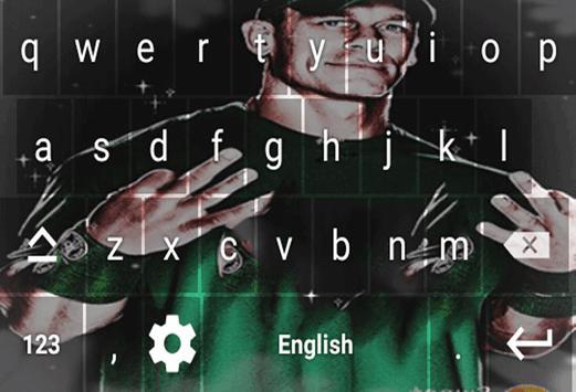 Wrestling Stars Keyboard Theme screenshot 1
