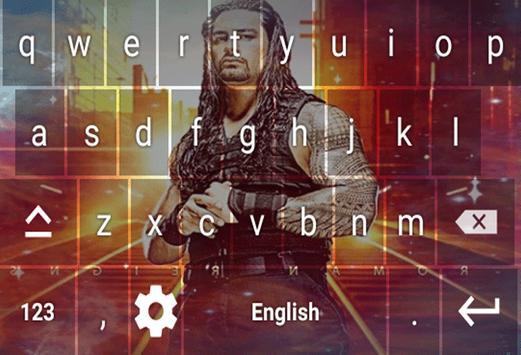 Wrestling Stars Keyboard Theme screenshot 2