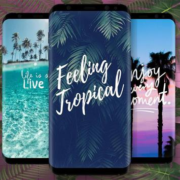 Tropical wallpapers poster