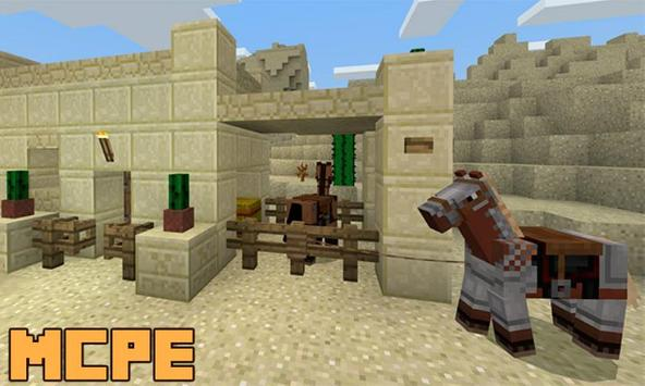 New Desert Village and Villagers Map for MCPE poster