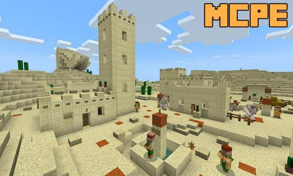 New Desert Village and Villagers Map for MCPE screenshot 1