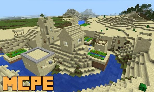 New Desert Village and Villagers Map for MCPE screenshot 2