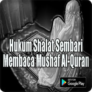 Hukum Shalat Sembari Membaca Mushaf Al-Quran poster