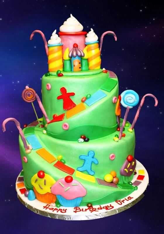 Happy Birthday Cake Designs Plakat