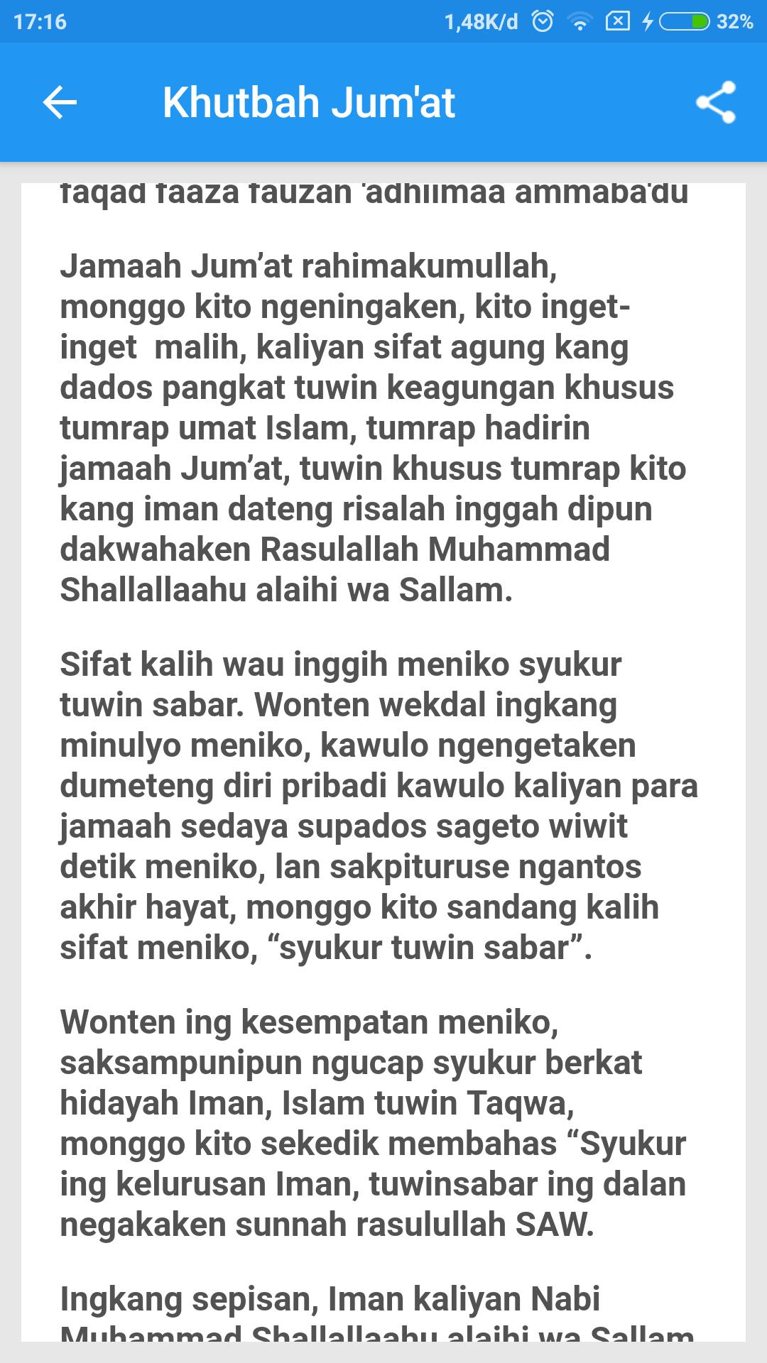 Khutbah Jum At Bahasa Jawa Lengkap For Android Apk Download