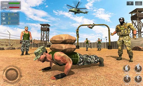 US Army Training School Game: Obstacle Course Race poster