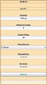 Training Diary screenshot 1