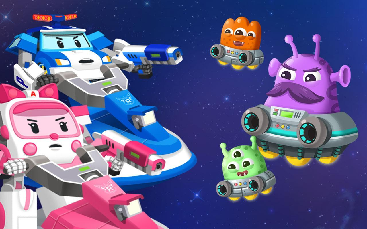 Robocar Poli Space Monster Popular Game для андроид