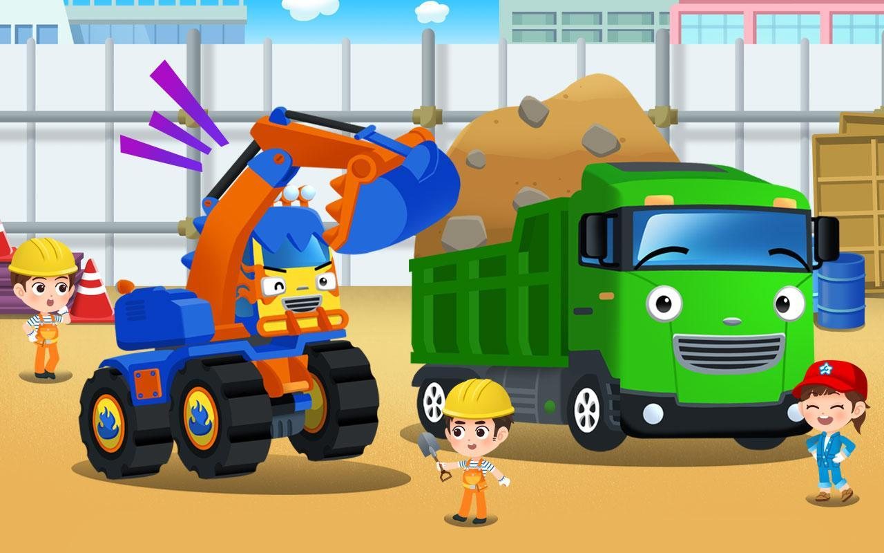 Tayo Monster Poco Excavator Car Game For Android Apk Download
