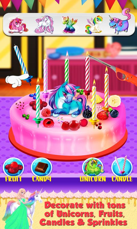 Real Birthday Cake Maker A Sweet Cooking Game Screenshot 3