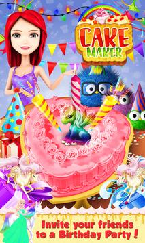 Real Birthday Cake Maker A Sweet Cooking Game Poster