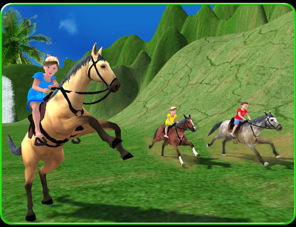 Kids Mountain Horse Rider Race For Android Apk Download