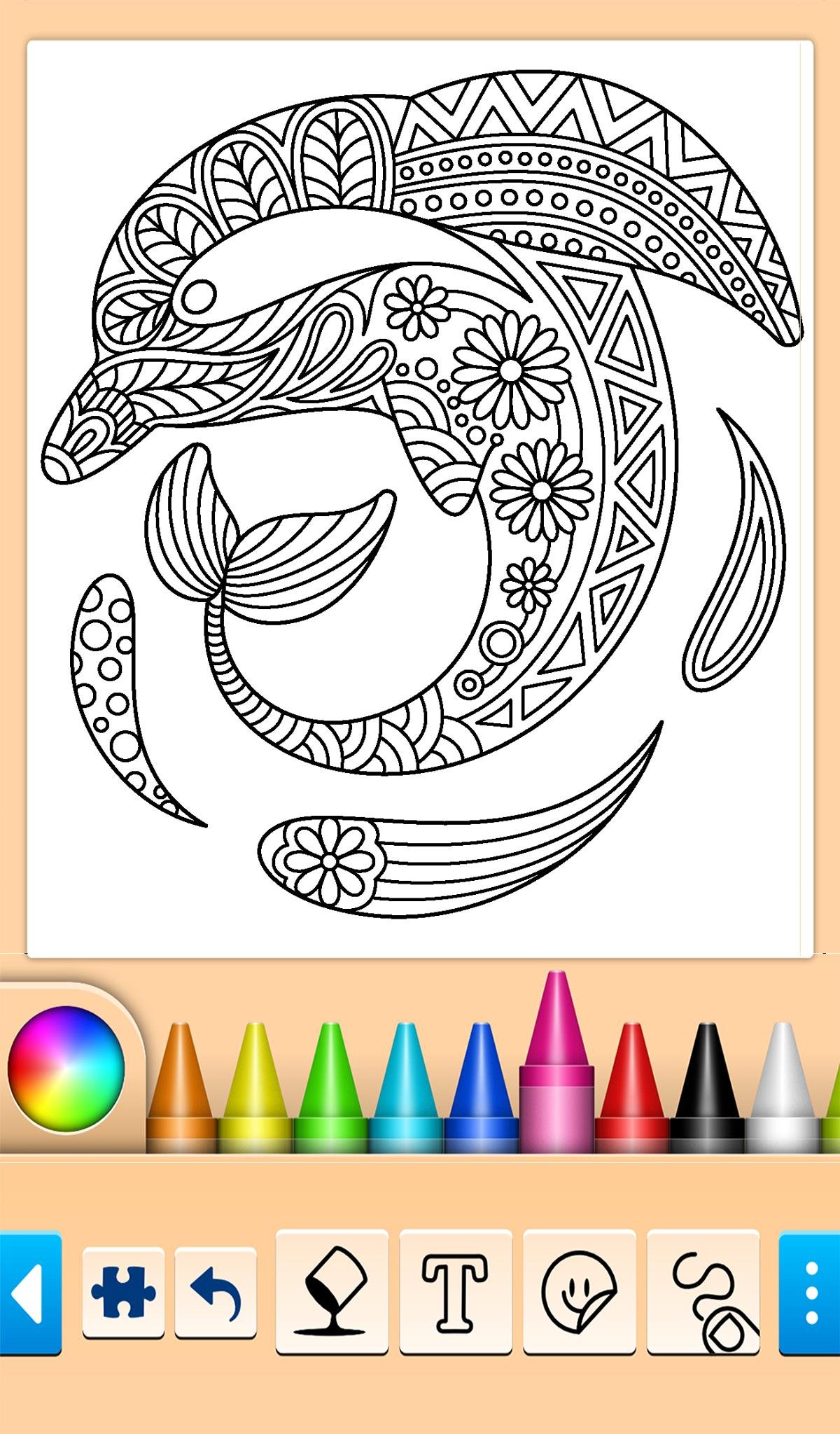 Animals: animal coloring book game poster