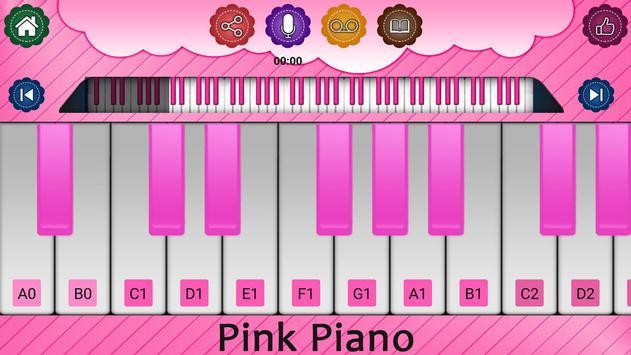 Pink Piano Keyboard screenshot 1
