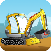 Kids construction vehicles icon
