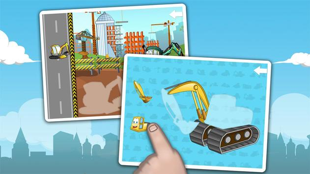 Kids construction vehicles poster