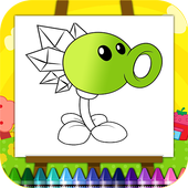Plants vs Zombies coloring book icon