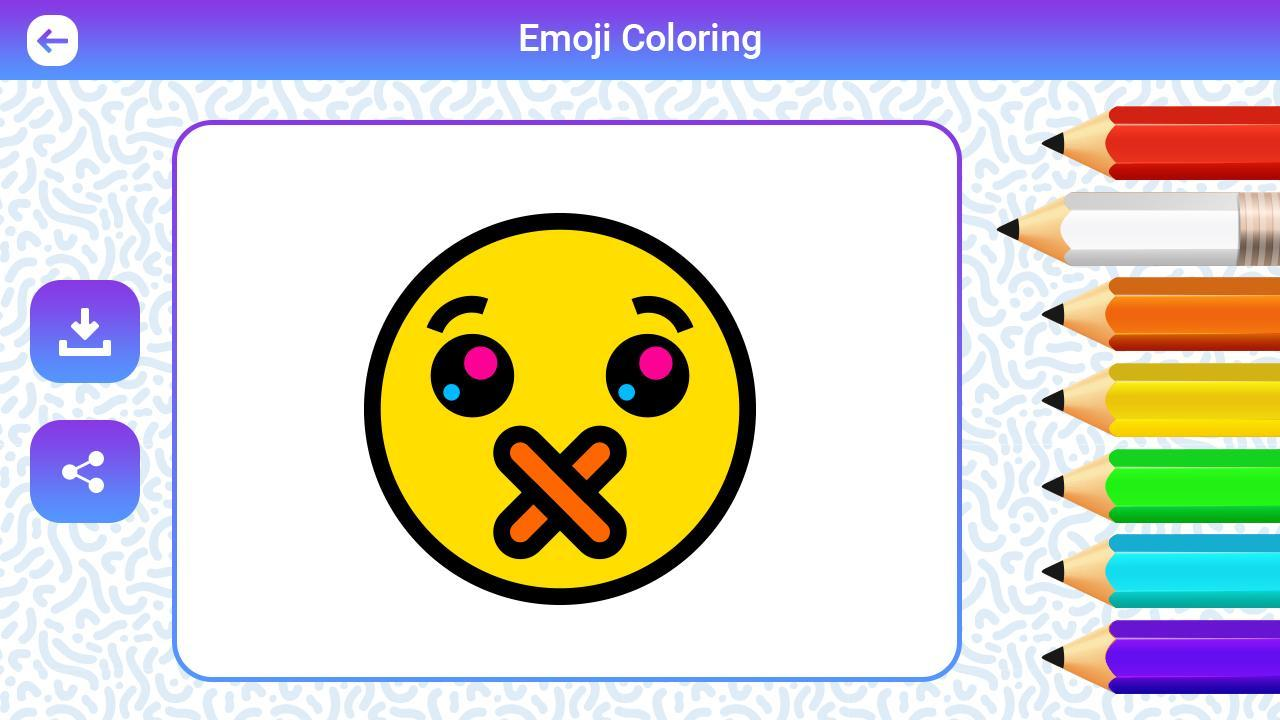 Emoji Coloring Pages For Kids Coloring Master For Android