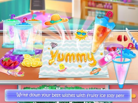 Ice Cream Lollipop Maker - Cook & Make Food Games capture d'écran 3