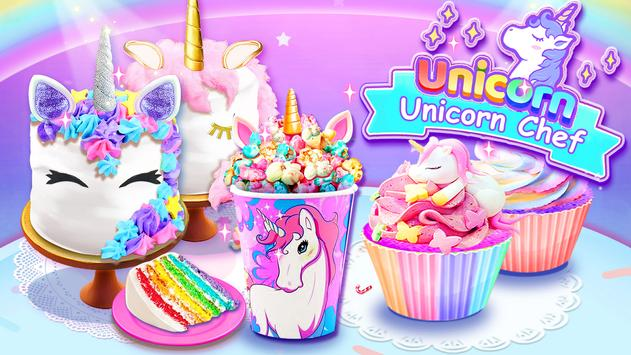 Girl Games: Unicorn Cooking Games for Girls Kids poster